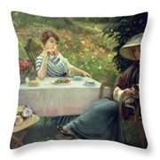 Tea Time Throw Pillow by Jacques Jourdan