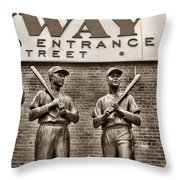 Teammates 2 Throw Pillow by Joann Vitali