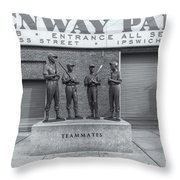 Teammates II Throw Pillow by Clarence Holmes