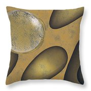 Tears Of Gold Throw Pillow by Richard Rizzo