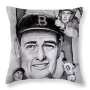Ted Throw Pillow by Jack Skinner