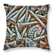 Teed Throw Pillow by Walt Foegelle