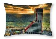 Tel Aviv Lego Throw Pillow by Ron Shoshani