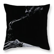 Temperate Sax Throw Pillow by Richard Young