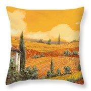 terra di Siena Throw Pillow by Guido Borelli