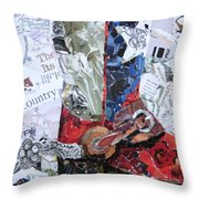 Texas Boot Throw Pillow by Suzy Pal Powell