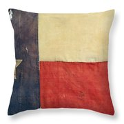 Texas Flag, 1842 Throw Pillow by Granger