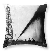 Texas: Oil Derrick, C1901 Throw Pillow by Granger