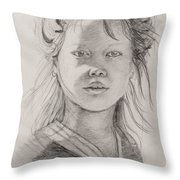 Thai Beauty Throw Pillow by Nadine Rippelmeyer
