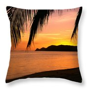Thailand, Koh Pagan Throw Pillow by William Waterfall - Printscapes