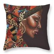 Thank You Angela Throw Pillow by Alga Washington