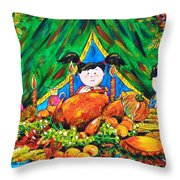 Thanksgiving Day Throw Pillow by Zaira Dzhaubaeva