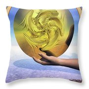 The Ace Of Coins Throw Pillow by John Edwards