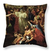 The Adoration Of The Golden Calf Throw Pillow by Nicolas Poussin