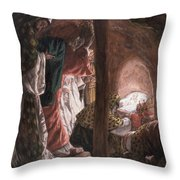 The Adoration of the Wise Men Throw Pillow by Tissot