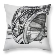 The Aggie Ring Throw Pillow by Barbara Gilroy