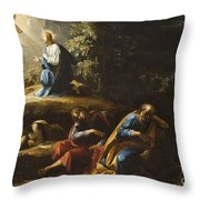 The Agony in the Garden Throw Pillow by Guiseppe Cesari