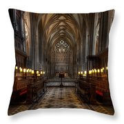 The Altar Throw Pillow by Adrian Evans