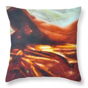 The Amber Speck Of Light Throw Pillow by Sergey Ignatenko