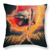 The Ancient of Days Throw Pillow by William Blake