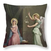 The Annunciation Throw Pillow by Auguste Pichon