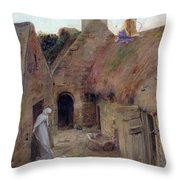 The Annunciation Throw Pillow by Luc Oliver Merson