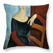 The Artist's Wife Throw Pillow by Amedeo Modigliani