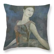 The Ballerina Throw Pillow by Steve Mitchell