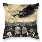 The Band Has Arrived Throw Pillow by Meirion Matthias