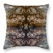 The Barking Yin Yang Throw Pillow by Clayton Bruster