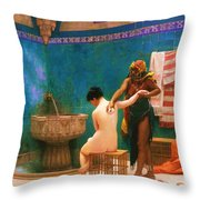 The Bath Throw Pillow by Pg Reproductions