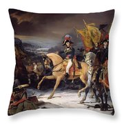 The Battle Of Hohenlinden Throw Pillow by Henri Frederic Schopin