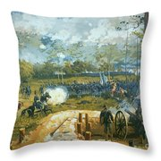 The Battle of Kenesaw Mountain Throw Pillow by American School