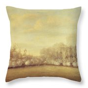 The Battle of Negapatam Throw Pillow by Dominic Serres
