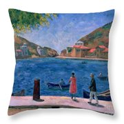 The Bay Of Balaklava Throw Pillow by Aleksandr Davidovic Drevin