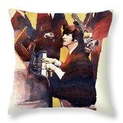 The Beatles 01 Throw Pillow by Yuriy  Shevchuk