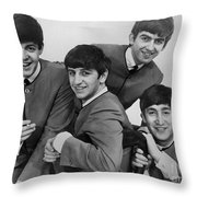 The Beatles, 1963 Throw Pillow by Granger