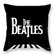 The Beatles No.03 Throw Pillow by Caio Caldas
