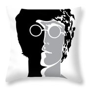 The Beatles No.08 Throw Pillow by Caio Caldas