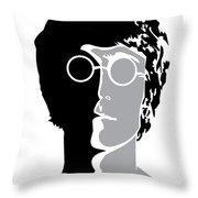 The Beatles No.08 Throw Pillow by Caio Caldas