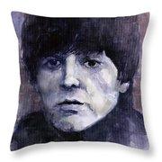 The Beatles Paul McCartney Throw Pillow by Yuriy  Shevchuk