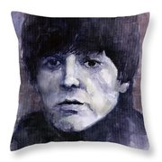 The Beatles Paul Mccartney Throw Pillow by Yuriy  Shevchuk