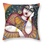 The Beauty Throw Pillow by Albena Vatcheva