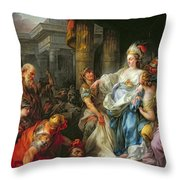 The Beheading Of Cyrus IIi Throw Pillow by Jean Simon Berthelemy
