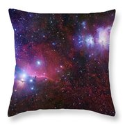 The Belt Stars Of Orion Throw Pillow by Robert Gendler