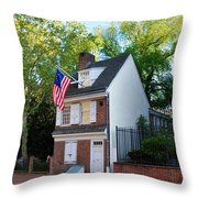 The Betsy Ross House Philadelphia Throw Pillow by Bill Cannon