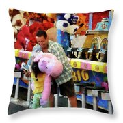 The Big Prize Throw Pillow by Susan Savad