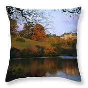 The Biltmore Estate Is Reflected Throw Pillow by Melissa Farlow