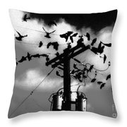 The Birds Throw Pillow by David Lee Thompson