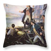 The Birth of the US National Anthem Throw Pillow by American School